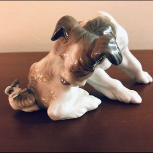 """Lladro's Animal Collection """"Dog And Butterfly"""""""